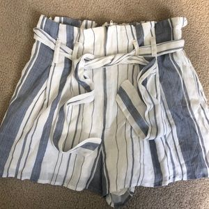 High wasted stripped shorts